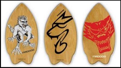 3 Skim Boards ermöglichen das Gleiten
