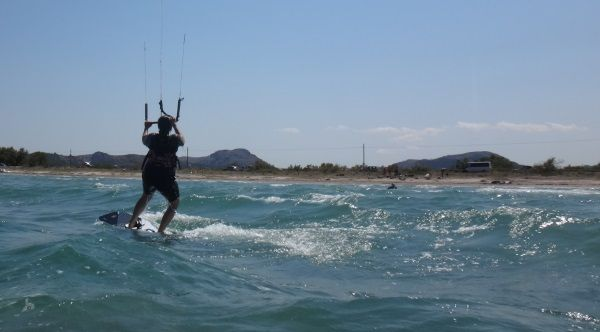 3 gaining speed kite course in may at Pollensa Bay
