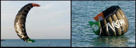 4 Der VIRON-1 war der erste Kite mit Auto Relaunch kitekurs Mallorca im Mai