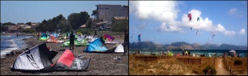 3 überfüllten Kitestrand unmöglich Kite-Unterricht