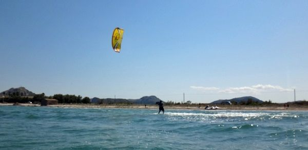 5 Your stance it is very important, front leg must kept stretched kite course in May Mallorca Alcudia