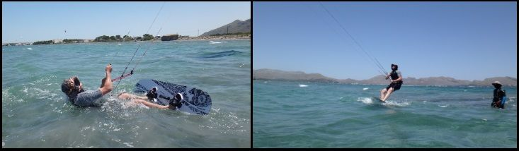 5 curso de kite de Patrick en Mallorca en julio