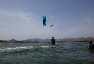 5 on his Peak 9 mts kite Mallorca kitekurse Pollensa