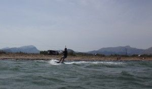 6 turn towards kitesurfing on the left side beach Pollensa