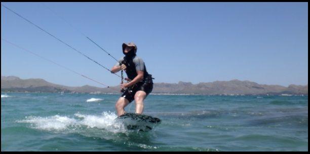 7 clases de kite con flysurfer kite en Pollensa y Alcudia