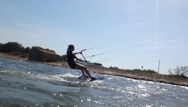 clases de kite en Sa Marina con Svenja en Junio