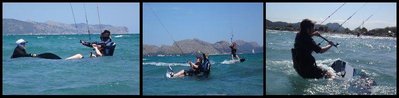 kitesurfing lessons in Alcudia Pollensa and Palma de Mallorca in April Agnieszka