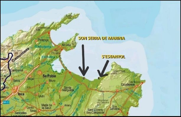 Map north Mallorca