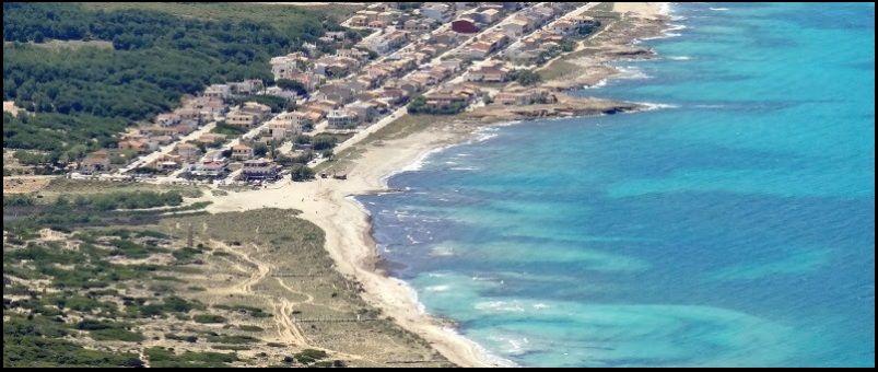 erste Teil der strand Son Serra - Mallorca kitesurfen