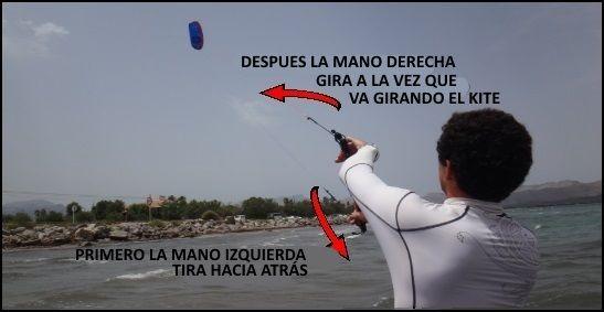 procedimiento para el control del kite escuela de kitesurfing en Alcudia y Pollensa