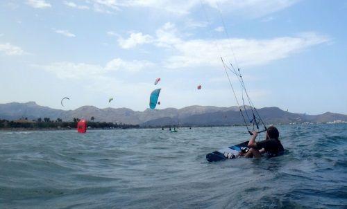 2 kiteboarding Mallorca wind in Pollensa flyboard 170x50