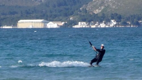 6 Pollensa kiteschool Military Base Port of Pollensa www mallorcakiteschool com