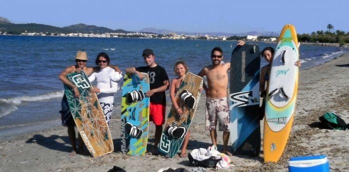 kiteklub mitglieder mallorca kiteschool in Juli