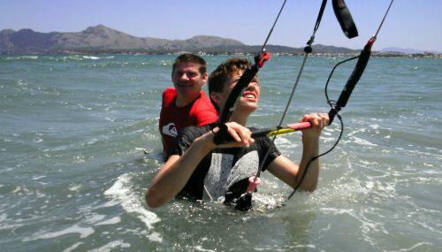 kitesurfen ubung mallorca