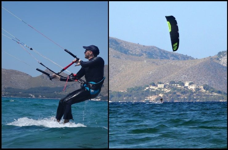 kitesurfing lessons Mallorca learning with flysurfer Sonic FR in April