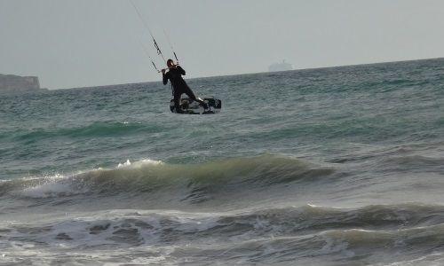 kite session in Southern Mallorca Sa Rápita kitesurfing