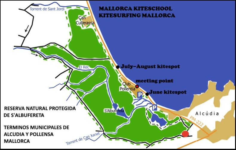 Mallorca kiteschool - Kitesurfing Mallorca kitespot