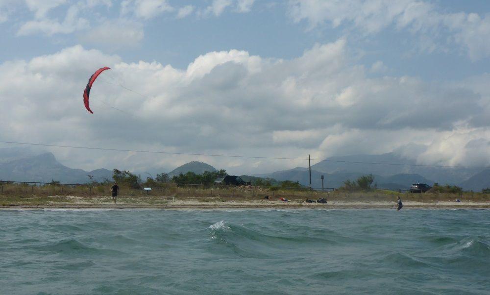 2 se baja la cometa curso de kite en Palma de Mallorca