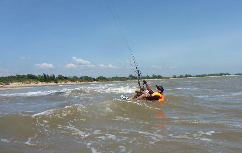 22 Position in der kiteboard für Wasserstart