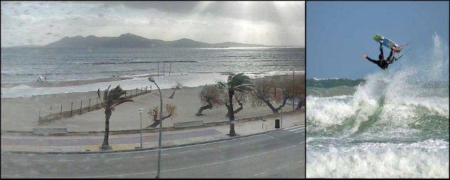 viento en Mallorca en Junio kitesurf en la isla