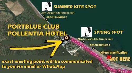 mallorca kitesurfing school in Pollensa Bay contact