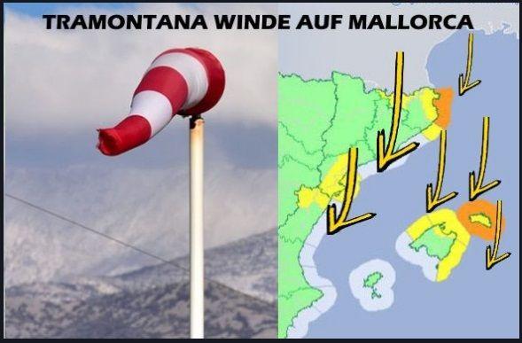 tramontana winde - kitesurfen mallorca