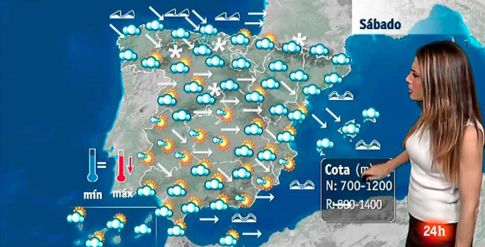 typische meteorologische Situation im Winter auf Mallorca, den Balearen und der Iberischen Halbinsel.