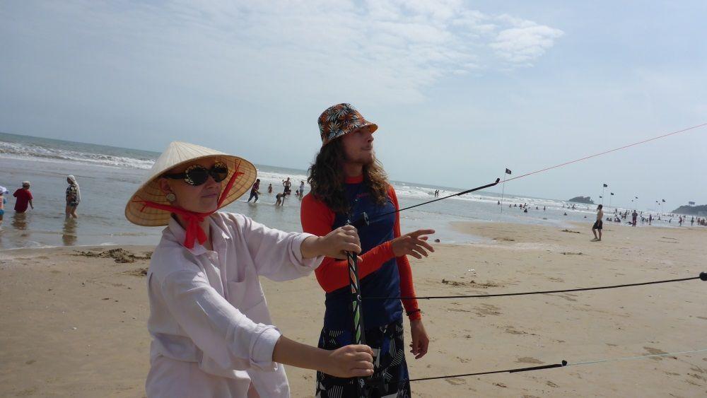 kitesurfing lessons in Vung Tau - best kitespot Vietnam in November