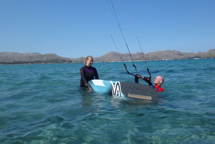 Transparent-clear-waters-Mallorca-kitesurfing-lessons-Pollensa-edmkpollensa-com