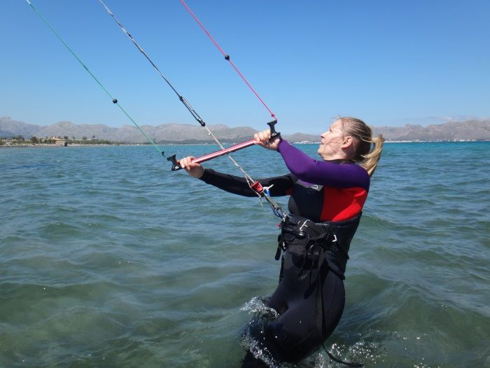 danish-girl-kitesurfing-school-Alcudia-Mallorca-July