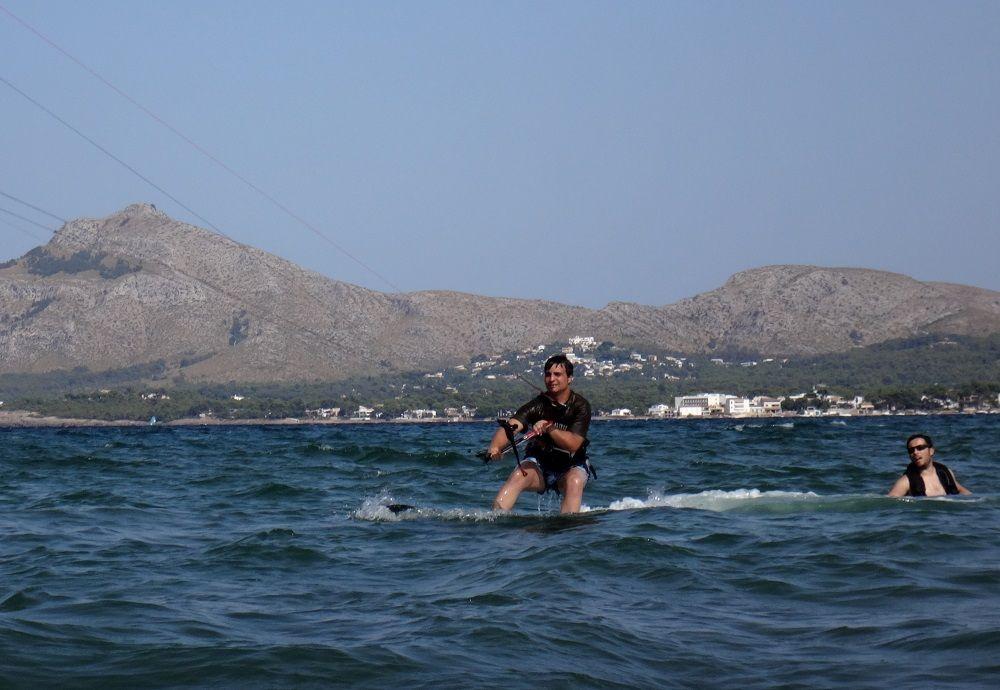 3-perfekten Wind und Wasserbedingungen in unserem Kitespot