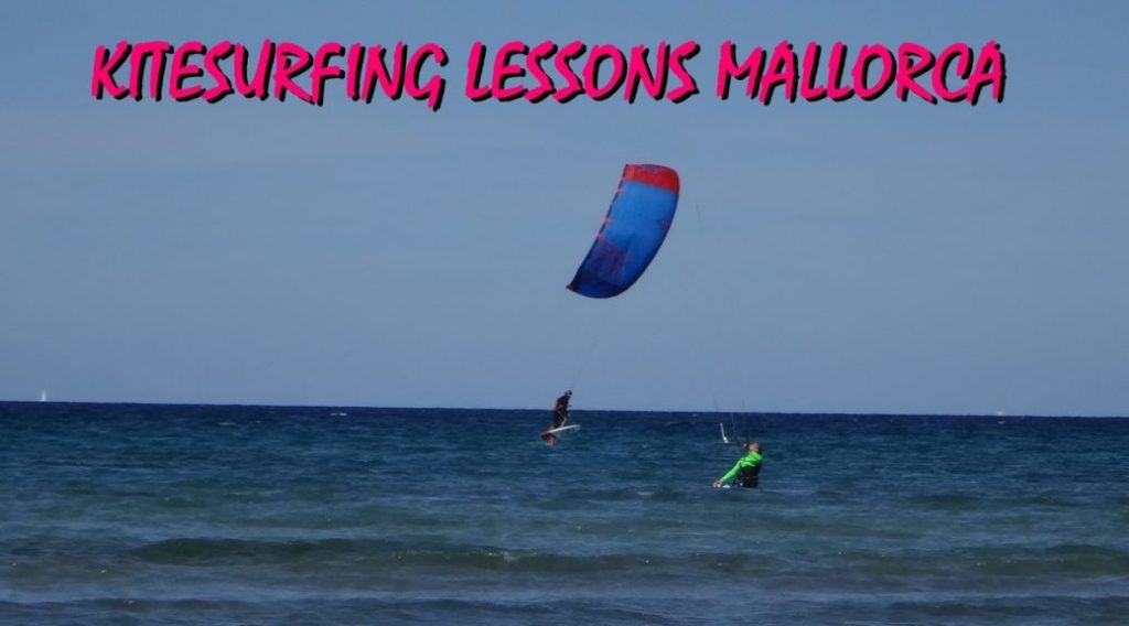 kitesurfing-lessons-mallorca kiteschool-in-Pollensa-Bay-wind-in-Mallorca-and-hydrofoil