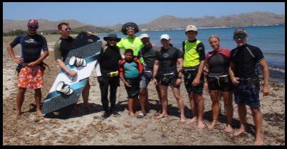 kite school in Pollensa Bay and in Alcudia Bay mallorca
