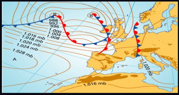 2 mapas atmosfericos Mallorca kiteschool