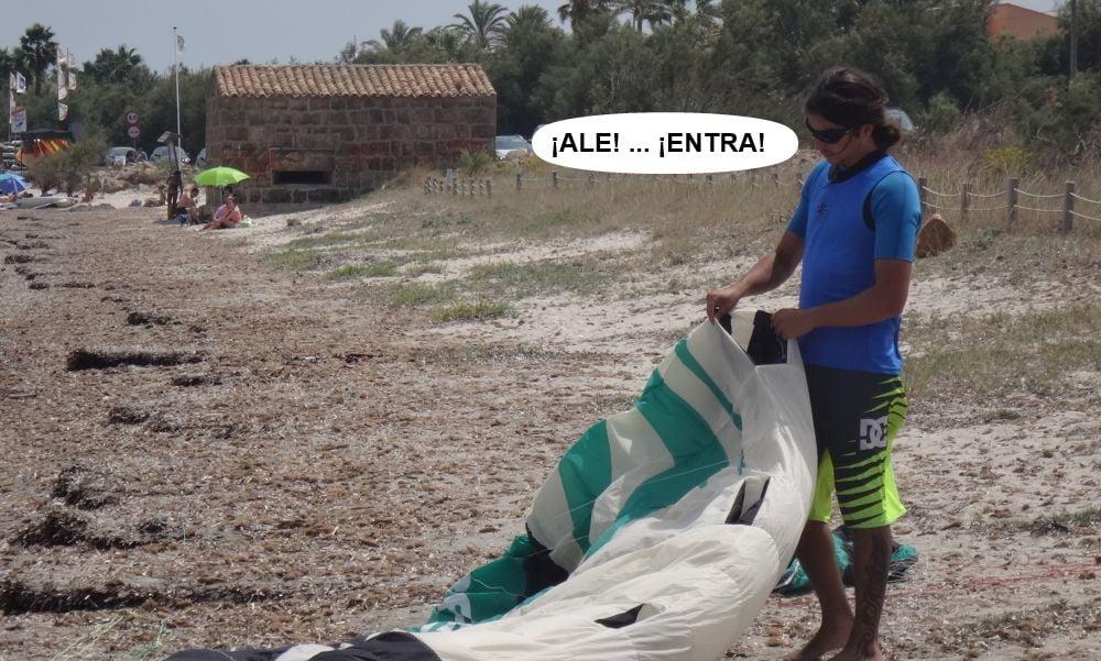 11 kitesurf en mallorca - Sergio en lo facil