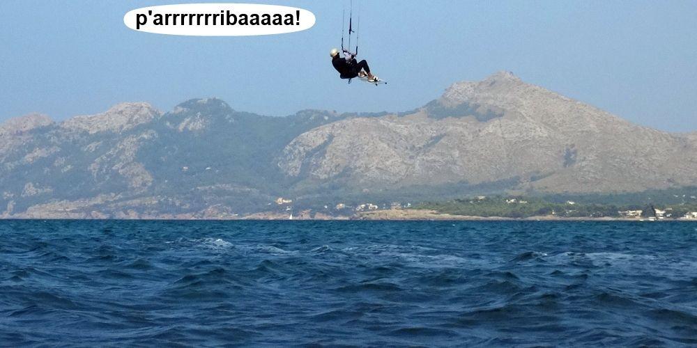 21 cursos de kitesurf en Mallorca - nueva volada