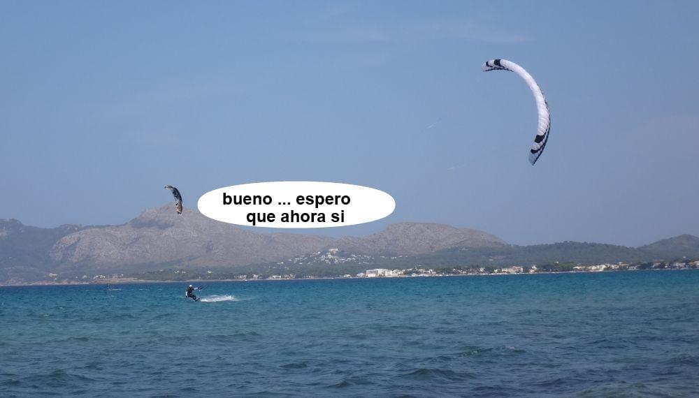 23 cursos de kitesurf en Mallorca - de nuevo la Flysurfer