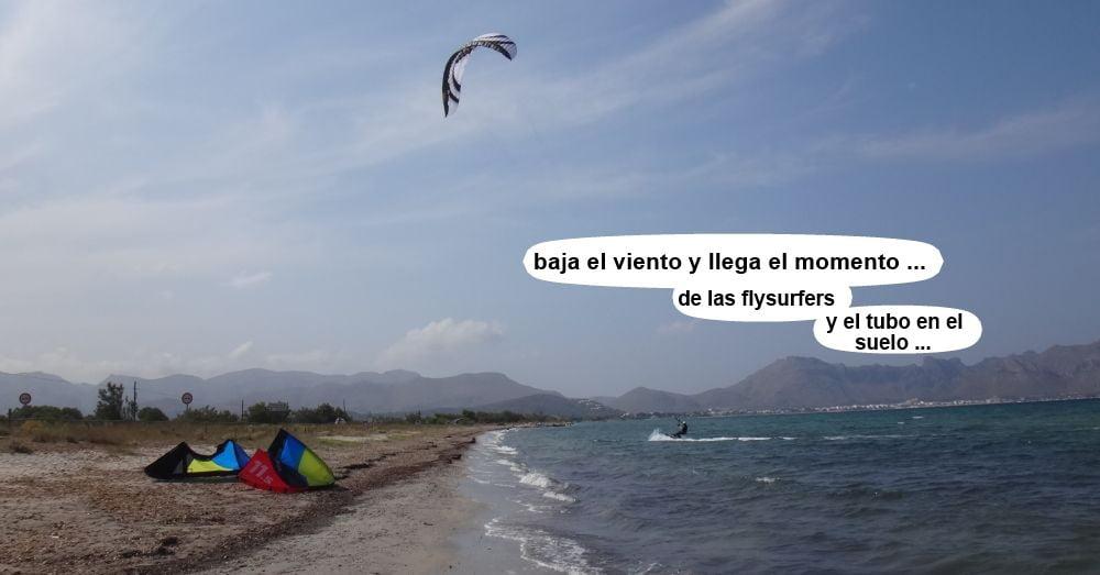 29 cursos de kitesurf en Mallorca - baja el viento