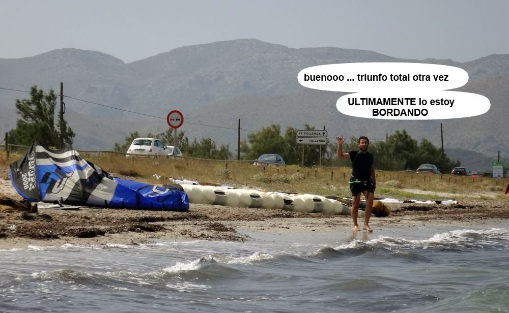 31 cursos de kitesurf en Mallorca - Josep avanza en su progresion